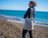 Handmade Beige Crochet Market Reusable Bag