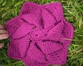 Handmade Crochet Purple Trivet Pot Holder