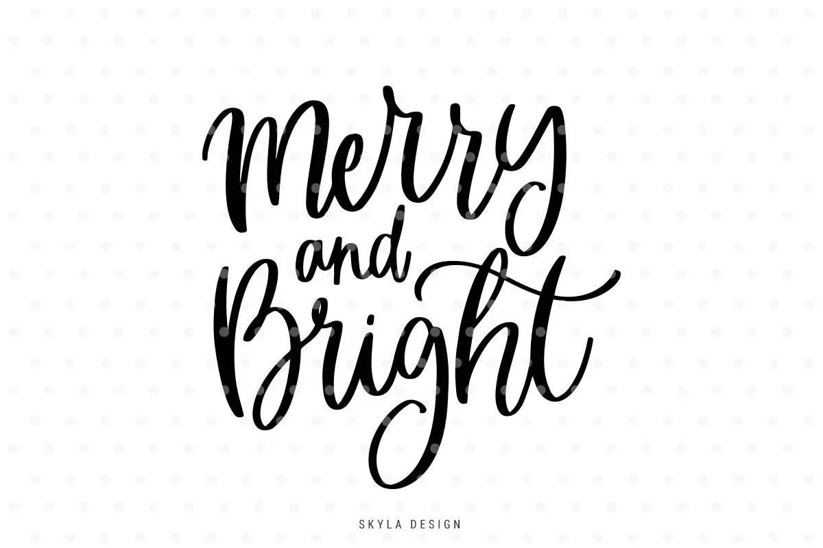 Merry And Bright Svg Merry Christmas Svg Christmas Svg
