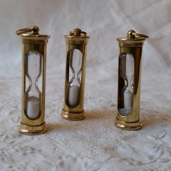 Miniature Sand Timer Hour Glass Brass Hourglass Pendant
