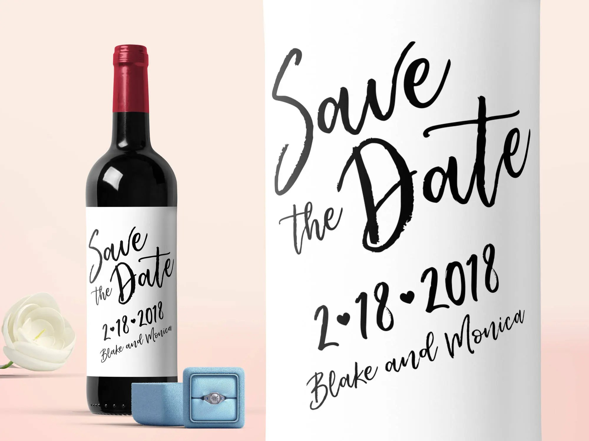 save the date wine