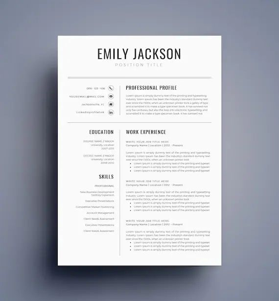 best professional resume templates word