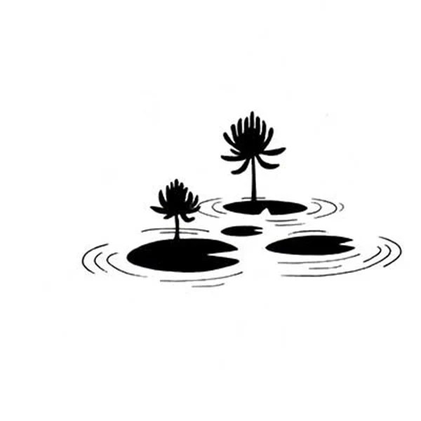Lavinia Lilly Pad Cling Stamp Lilly Pad Stamp Clear Cling