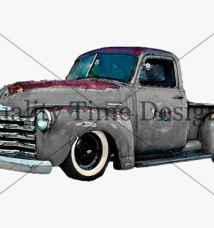 black gray vintage retro chevy truck clipart instant download graphic imagevintage truck clipart rusty rustic country chevy pickup [ 1500 x 1125 Pixel ]