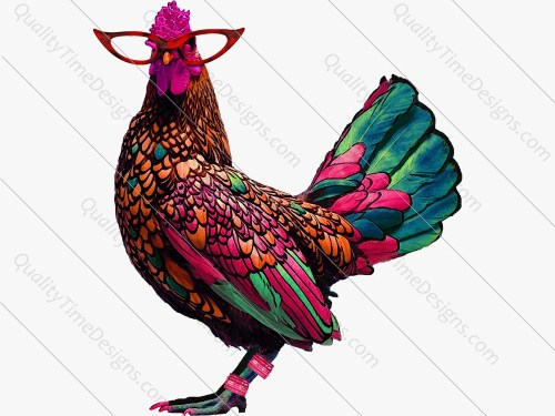 small resolution of boho hippie chick chicken clipart boho chicken clipart this is a unique original work of art by quality time designs
