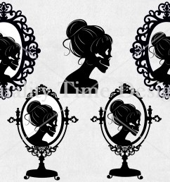 halloween clipart set skeleton lady silhouette vintage frame messy bun clipart holiday digital graphic set spooky clipart clip art [ 3000 x 2251 Pixel ]
