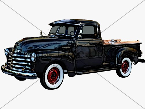 small resolution of black vintage truck clipart rusty rustic country chevy pickup retro car hand painted clip art graphic design instant download