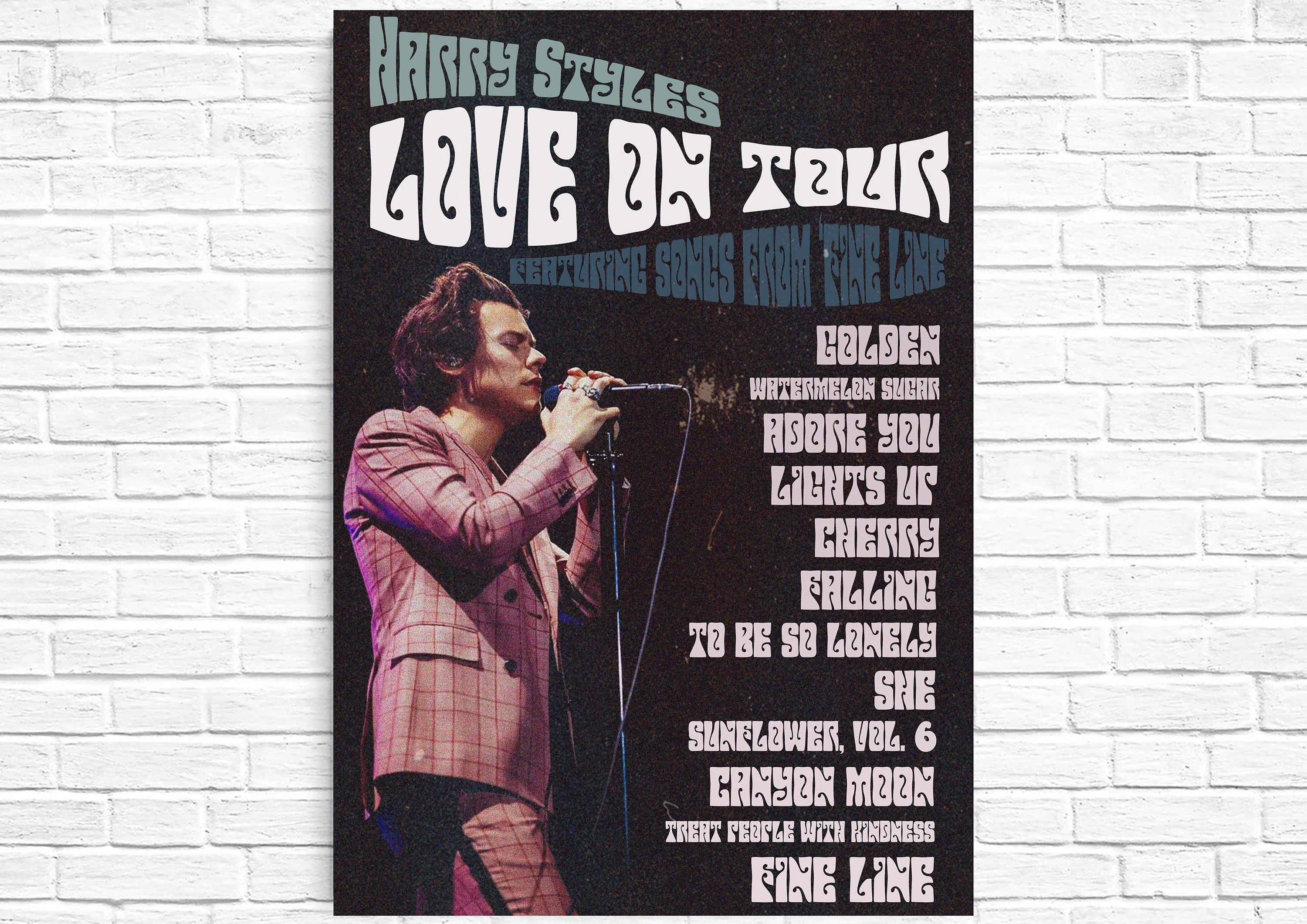 harry styles tour poster etsy