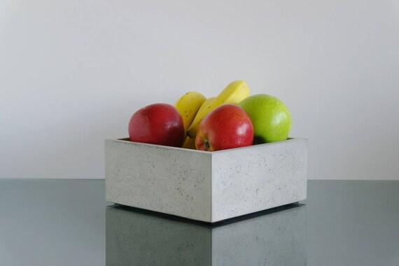 fruit basket for kitchen custom tables concrete bowl modern desk etsy image 0