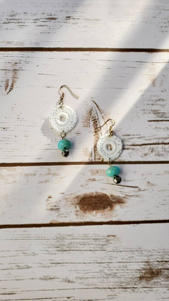 Jewelry Under 10 Dollars : jewelry, under, dollars, White, Crochet, Jewelry, Earrings, Women's