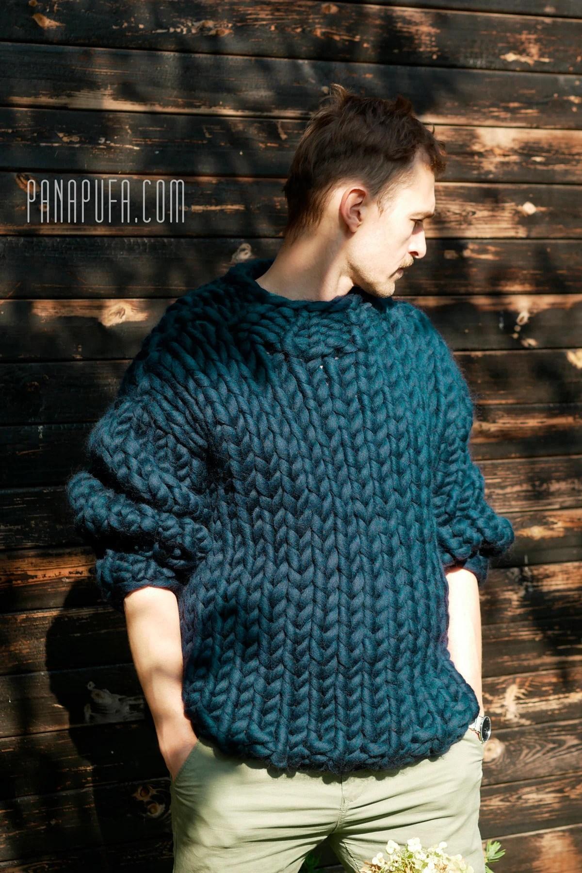 chunky knit men s