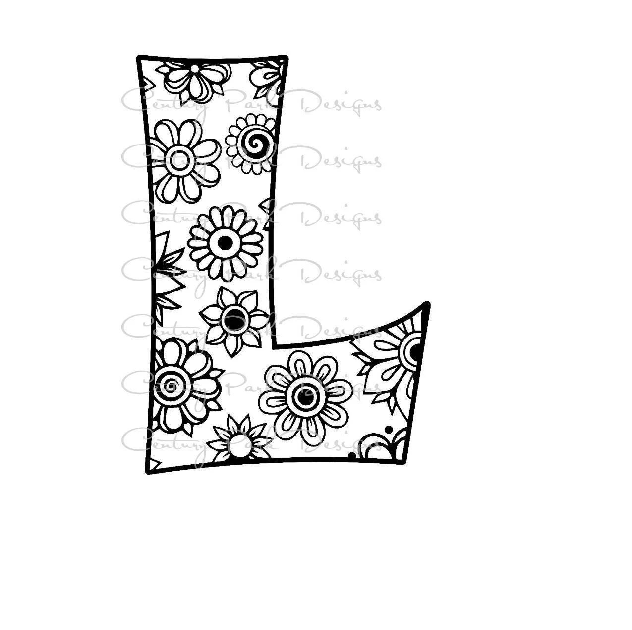 Letter L Alphabet Flowers SVG / JPEG / PNG /pdf / use with