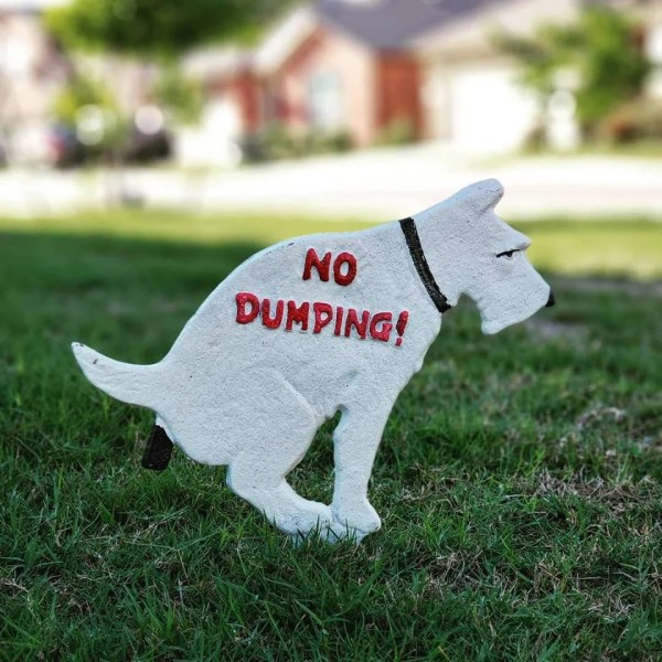 Dog Poop Sign With Stake Funny