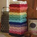 Cotton Crochet Washcloth Handmade Dishcloth Face Scrubbies