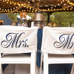 Wedding Chair Covers For Bride And Groom Bistro Style Kitchen Tables Chairs Set Of 2 Back Mr Etsy Image 0
