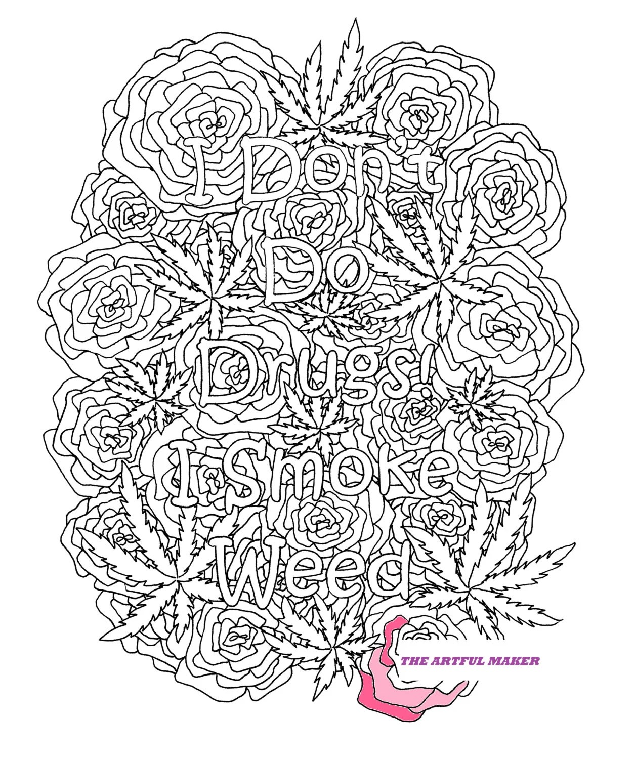 Fuck You Adult Coloring Page by The Artful Maker