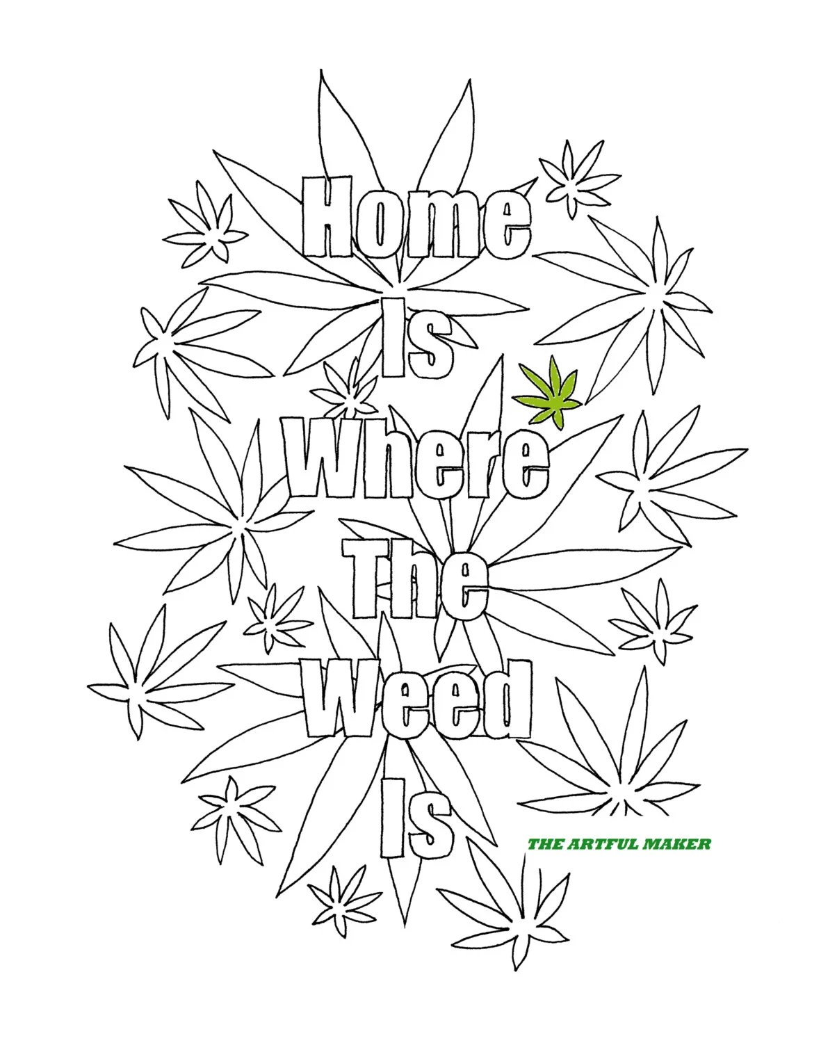 Weed Colouring Pages : colouring, pages, Where, Adult, Coloring, Artful