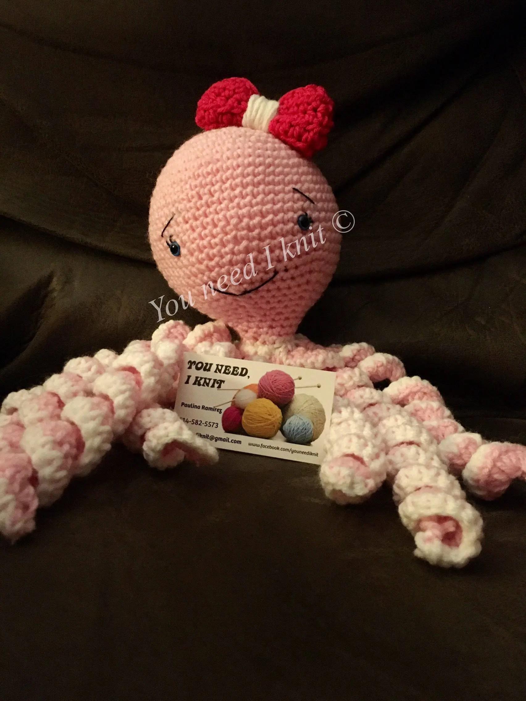 Premie octopus / Newborn ocotpus / baby preemie / crochet image 6