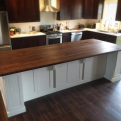 Island Kitchen Remodel Small Etsy Black Walnut Top Counter