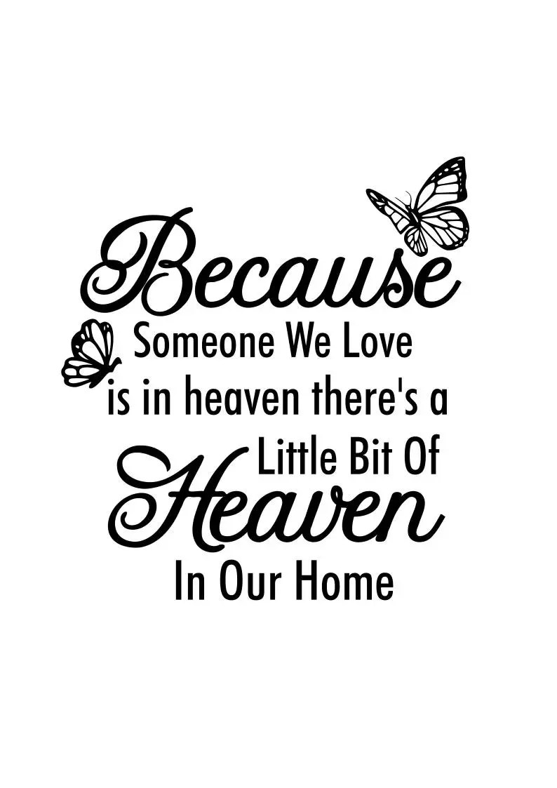 Download Memorial Svg Because someone we love is in heaven | Etsy