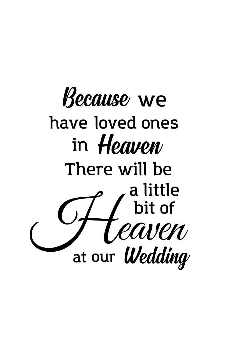 Download Wedding memorial svg Because we have loved ones in Heaven ...