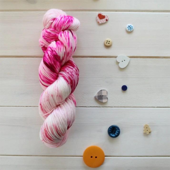 Hand dyed sock yarn - Pok...