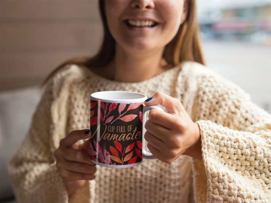 Yoga Coffee Mug, Namaste,...