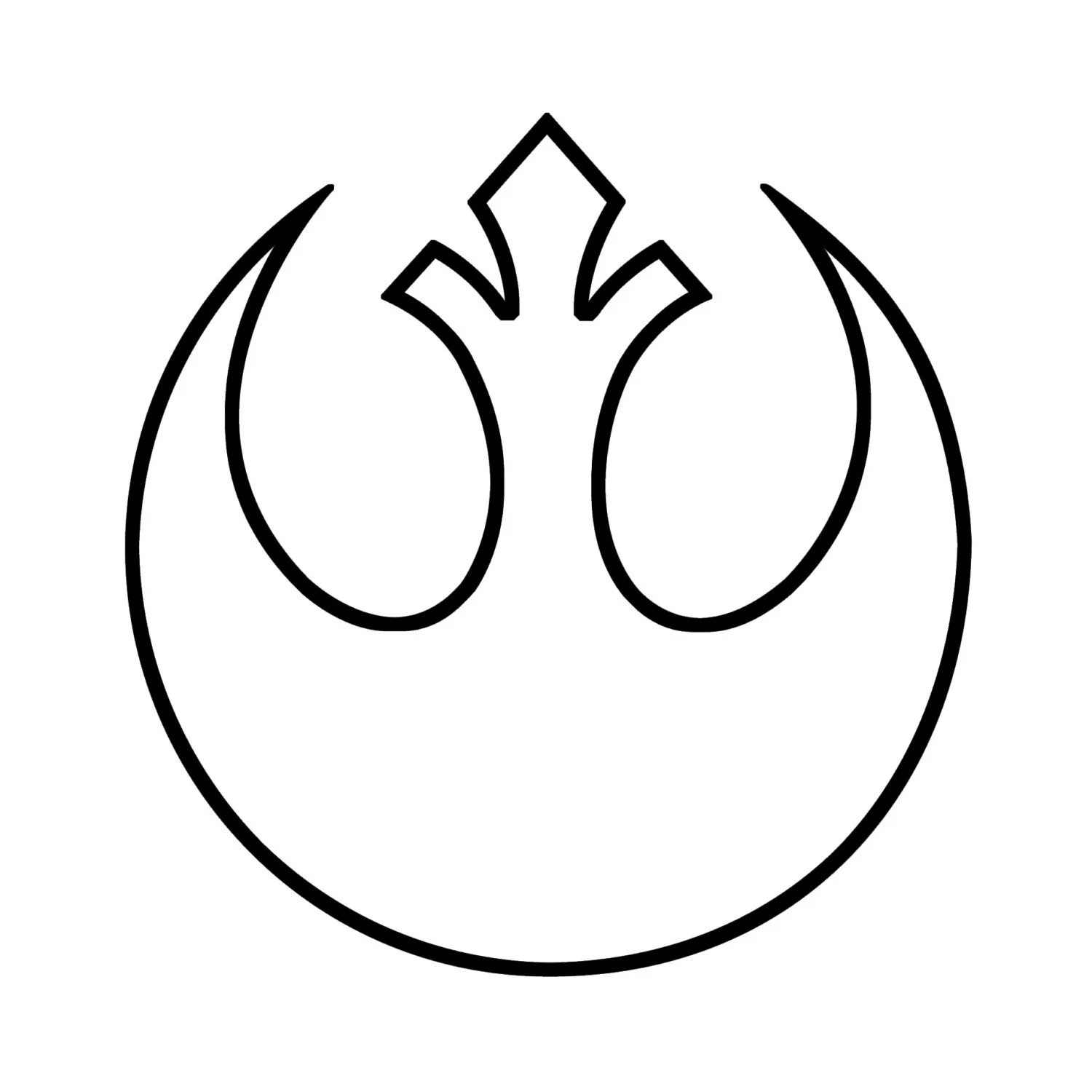 Star Wars Rebel Alliance Symbol Outline Decal for Car