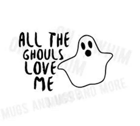Download All the Ghouls Love Me SVG T-shirt design Halloween svg ...
