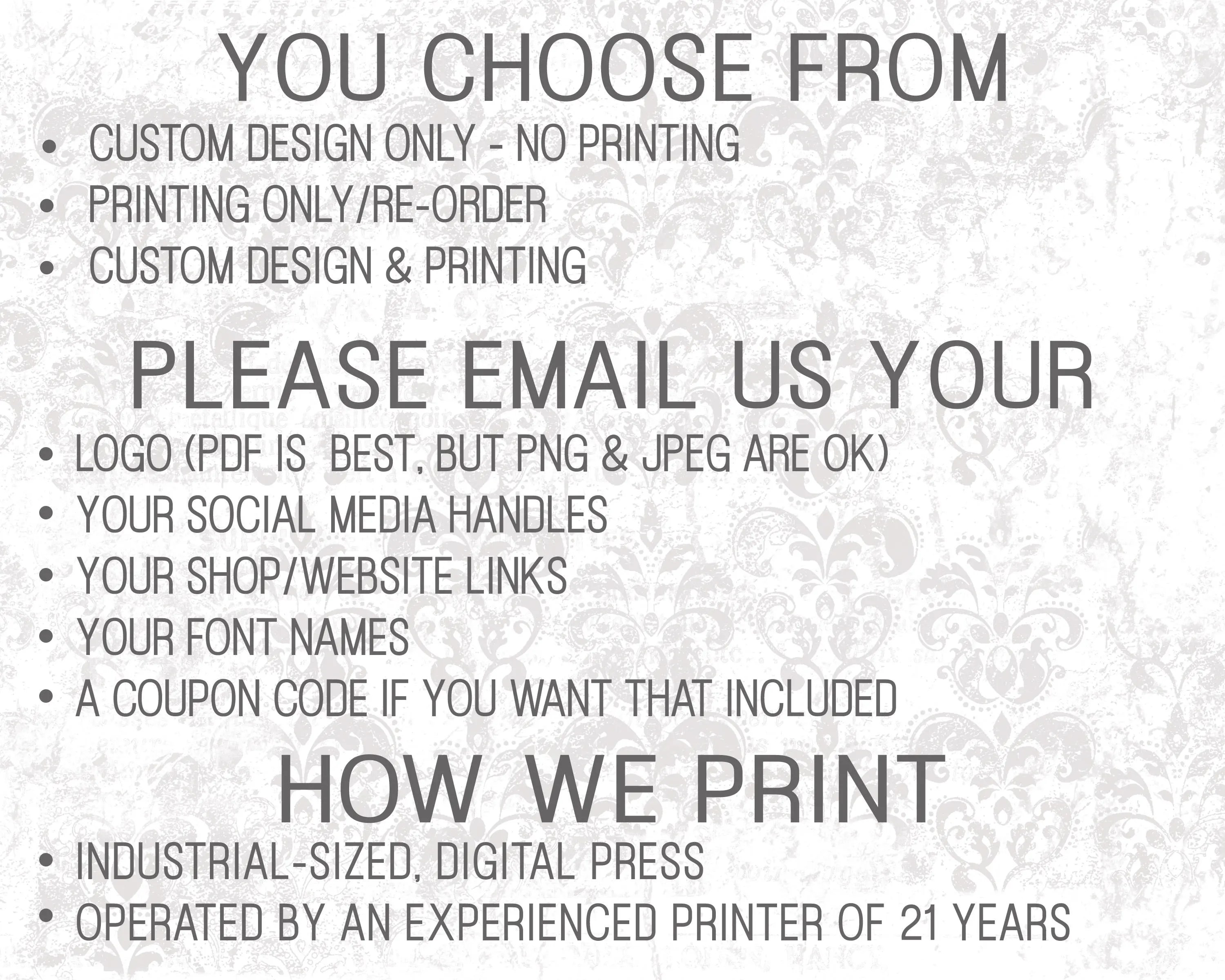 Social Media Cards, Etsy Review Cards, Etsy Thank You