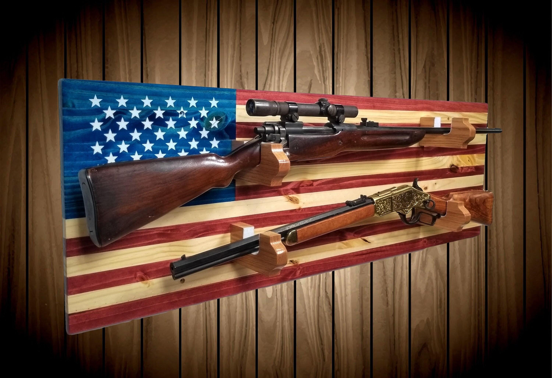 rustic wooden gun rack hangers rifle