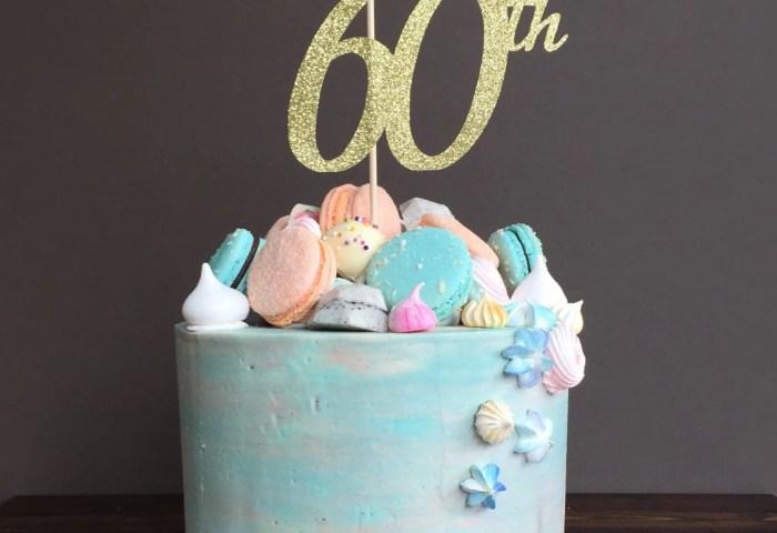 Cake Topper Sixty Cake Topper 60th Birthday Cake Topper Etsy