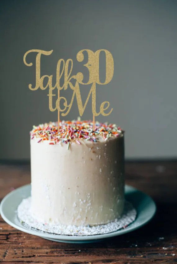 Talk 30 to Me cake topper 30th birthday decorations 30th