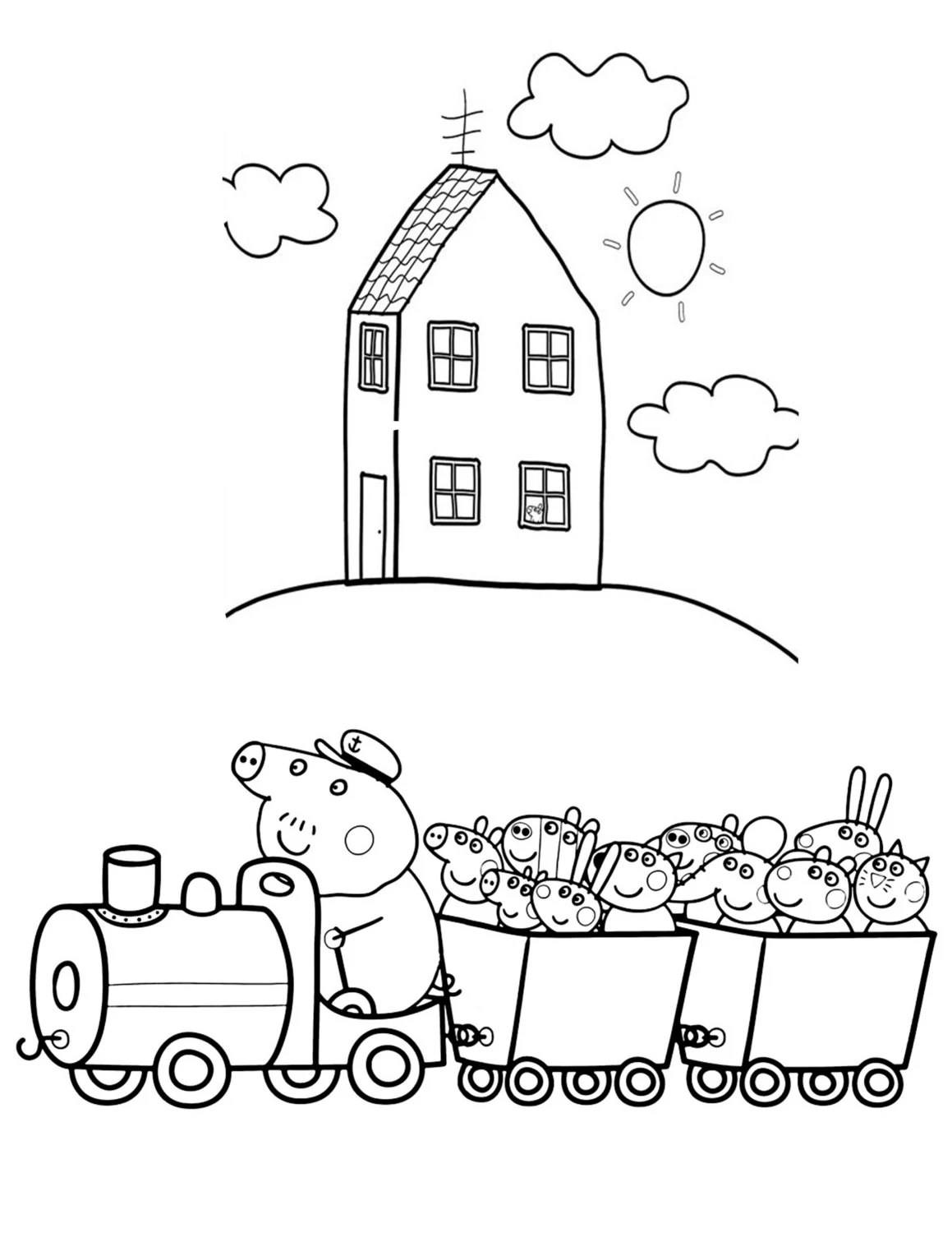 Peppa pig coloring pages printable for children of all