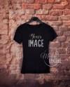 Hanging Blank Black T Shirt Apparel Mockup Fashion Design Etsy