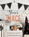 Blank Halloween Background Photo Mockup Styled Stock Etsy