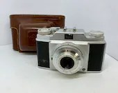 Agfa Silette Vintage 45 MM Camera Made in Germany Leather Case Compur Rapid