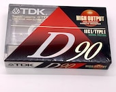 Vintage Blank TDK  Audio Cassette 90 Minute Mix Tape IECI Type I Cassette New Old Stock Never Opened