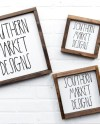 12x12 6x6 10x10 Multiple Sign Mock Up Blank Wood Sign Wood Etsy