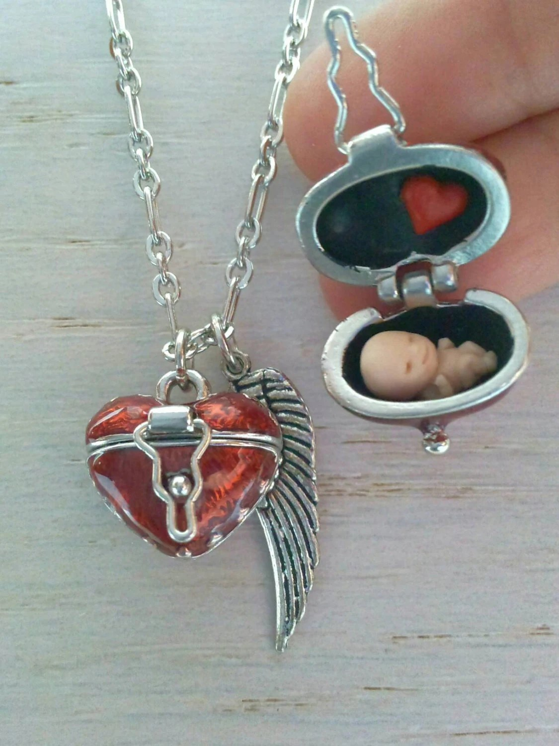 Miscarriage Memorial Jewelry : miscarriage, memorial, jewelry, Miscarriage, Necklace, Memorial, Locket