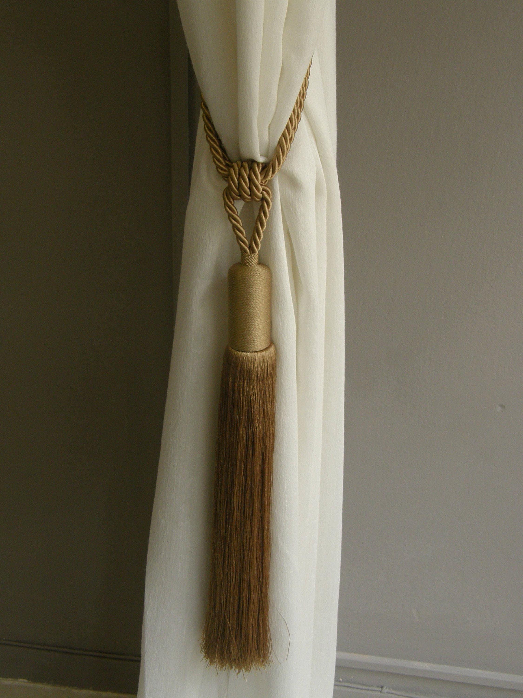 extra large gold curtains tieback silk