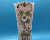 Pink /Gold /Mid Century /Square Vase/ Vintage