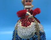 Vintage Handmade Queen Of Hearts with Pipe Cleaner Arms
