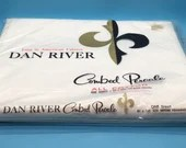Dan River White Combed Percale Vintage Flat Sheet - Wrinkle-shed with Dri-Don - New Old Stock