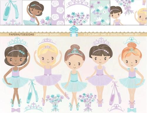 small resolution of ballerina clipart ballet clipart ballerina clip art digital paper set lavender aqua ballet