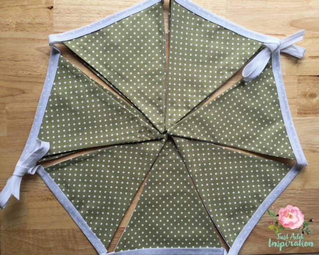 Olive Green Dotty Bunting...