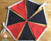 Navy and Red Spot Bunting...