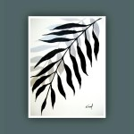 Sale Original Painting Plant Art Abstract Painting Contemporary Art Black And White Painting Modern Painting On Paper 11x15