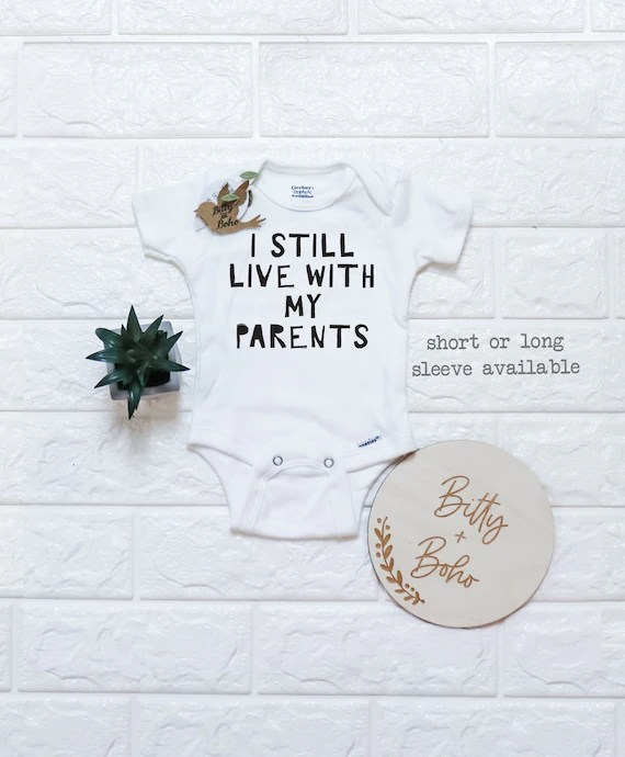 Baby Shower T Shirt Sayings : shower, shirt, sayings, Still, Parents, Onesie®, Clothes, Funny