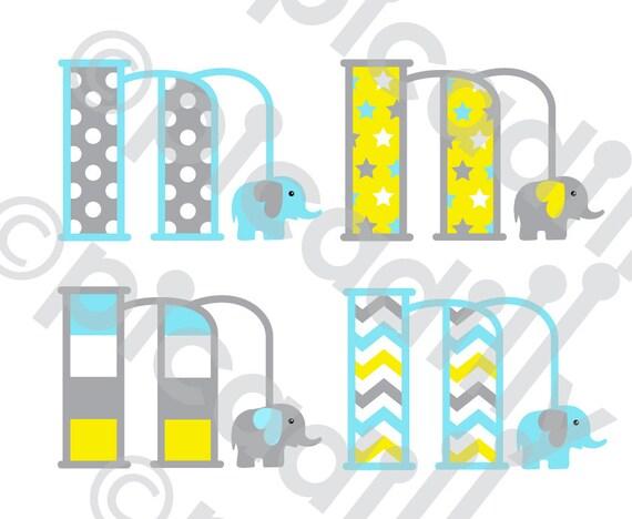 Download Baby Boy Elephant Font SVG PNG Elephant Monogram Svg Cut ...